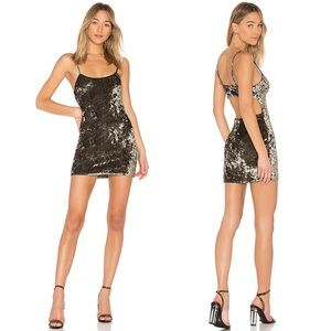 NWT NBD Kate Velvet Mini Dress